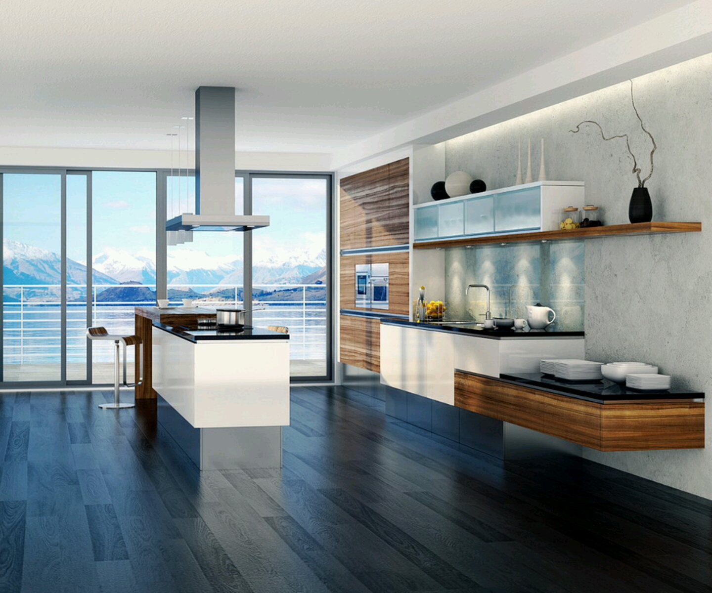 Modern homes ultra modern kitchen designs ideas.  Huntto.com