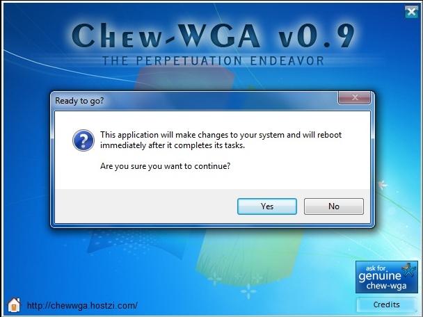 Windows 7 WGA Remover - Chew WGA V0.9.exe