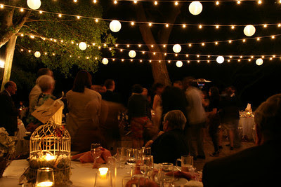 How To Hang String Lights For Outdoor Wedding : Just a girl with a hammer: Let there be light