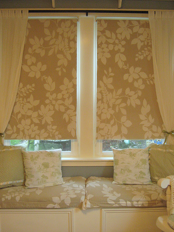 Fabric Roller Shades : Rindy mae the baby s room fabric covered shades