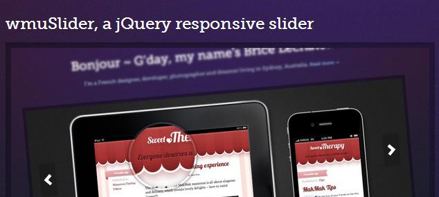 wmuSlider - Free jQuery Responsive slider