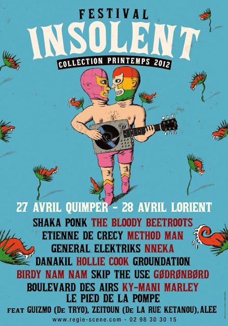 """Festival INSOLENT """"Collection Printemps 2012"""" - Quimper / Lorient"""
