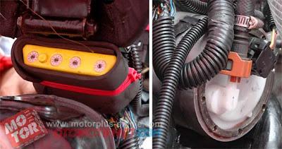 ECU Vortex full programmable untuk CBR 250R dan fuel pump dengan wadah khusus