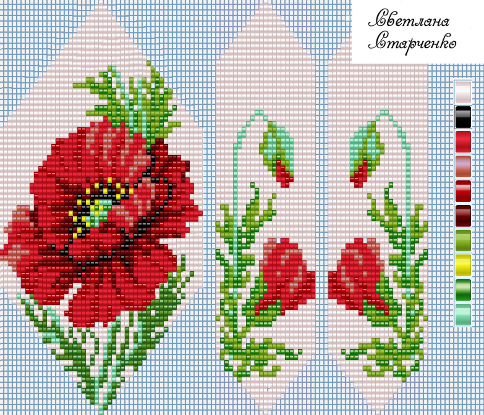 плетение бисера по схемам