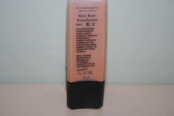 uk beauty blog illamasqua skin base