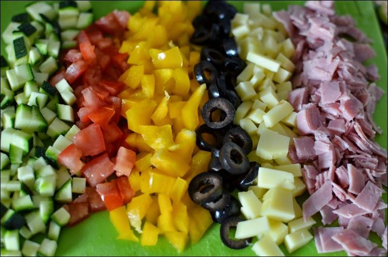 Recipe of Omelette - Emmental, ham, and vegetables