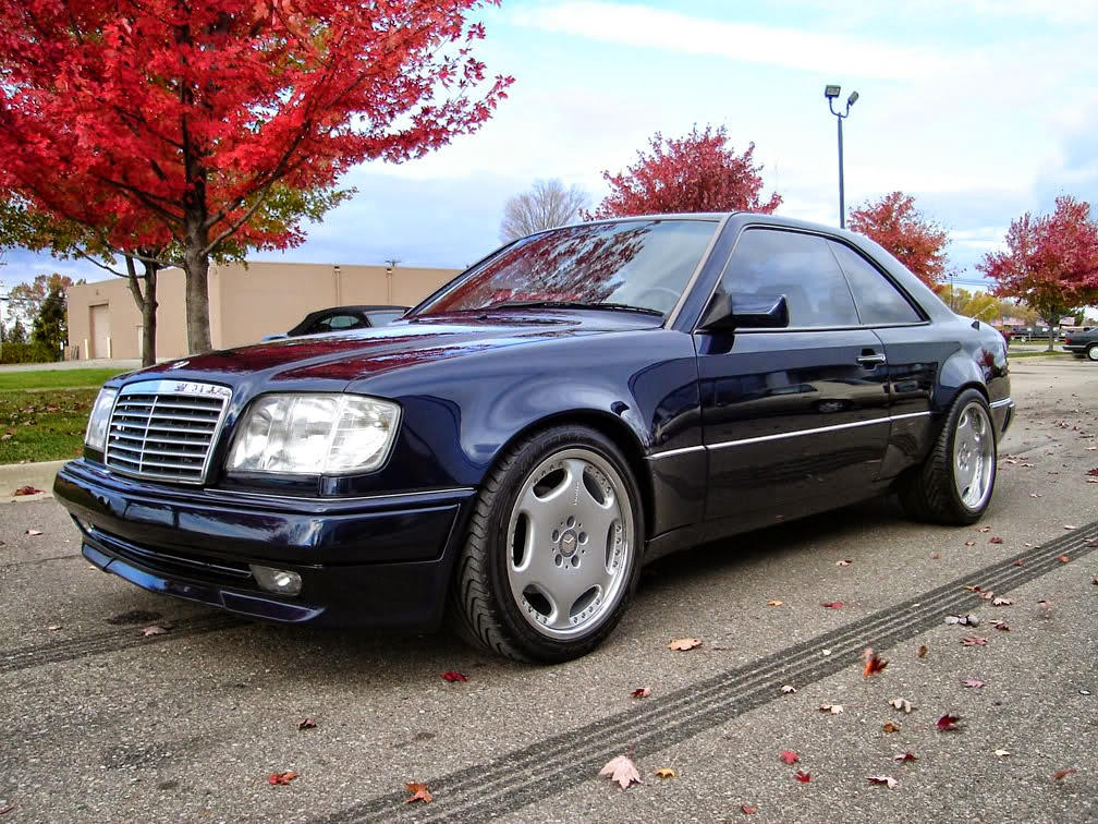 mercedes w124 e320 coupe widebody on carlsson wheels