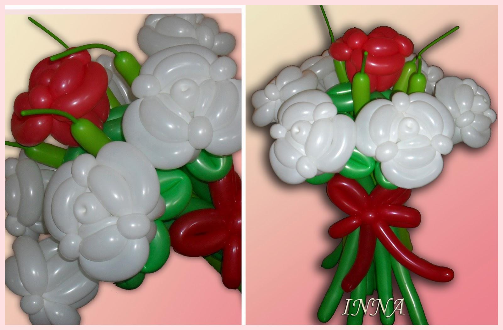 Цветы из шариков своими руками с фото