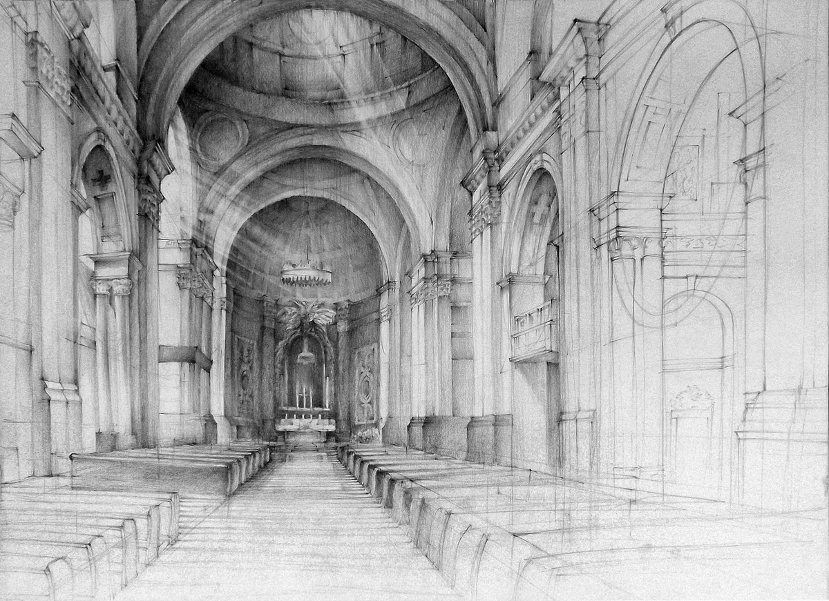 Historical buildings drawings for Online architecture drawing
