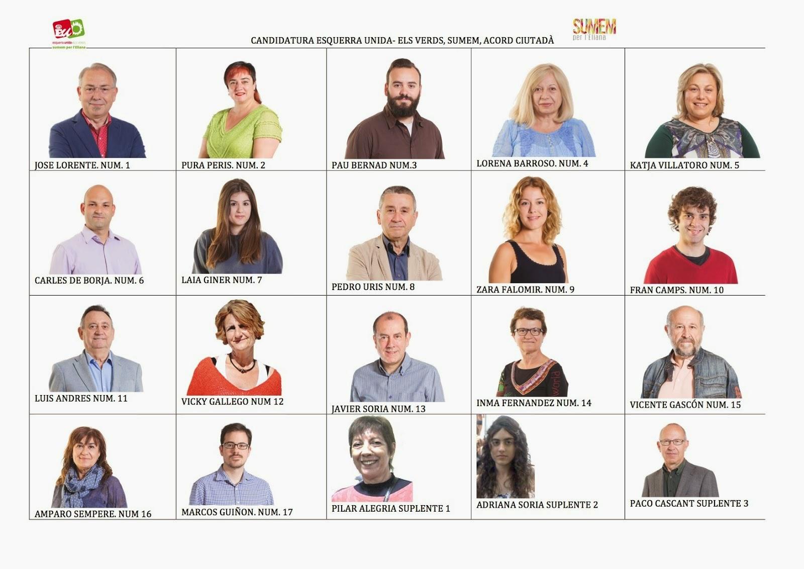 Candidatura Esquerra Unida-Els Verds, Sumem, Acord ciutadà