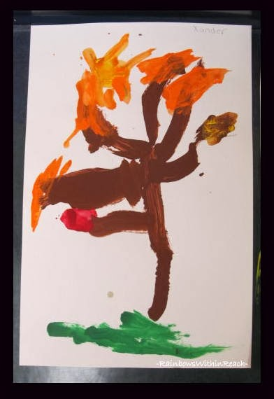 Fall Tree Painting via RainbowsWithinReach