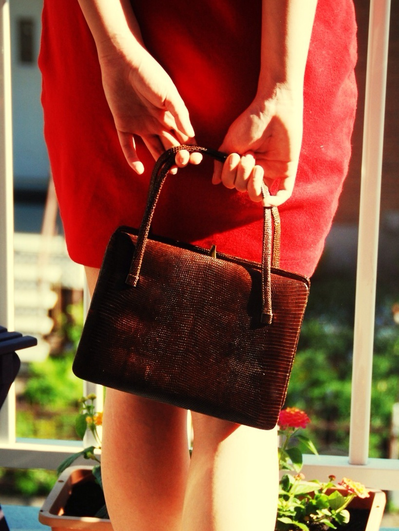 vintage brown handbag