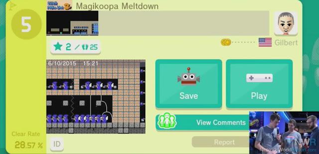 Saiba mais detalhes (com imagens) sobre o compartilhamento online de estágios em Super Mario Maker 2