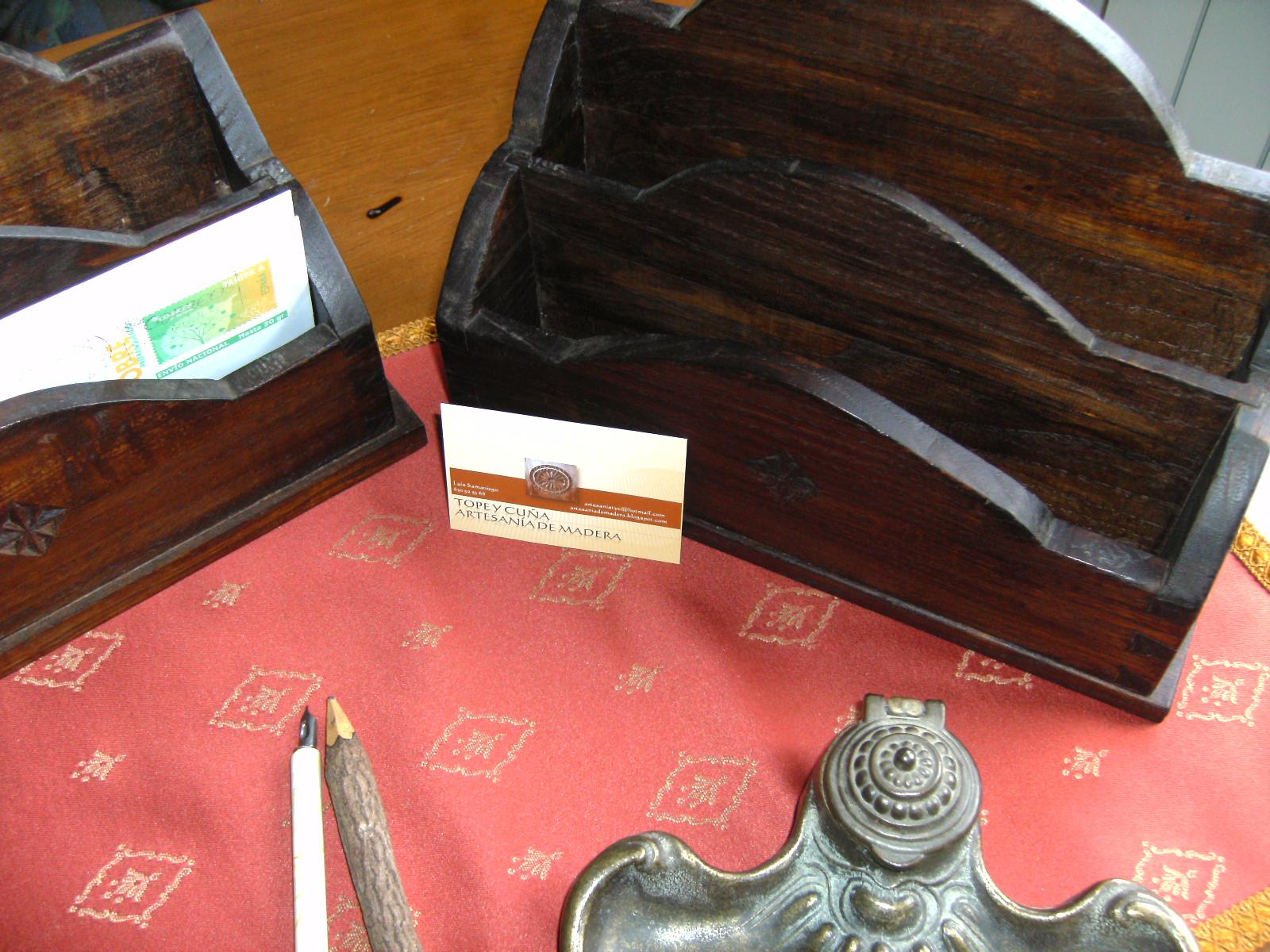 Guardacartas de madera de casta o fotos - Madera de castano ...