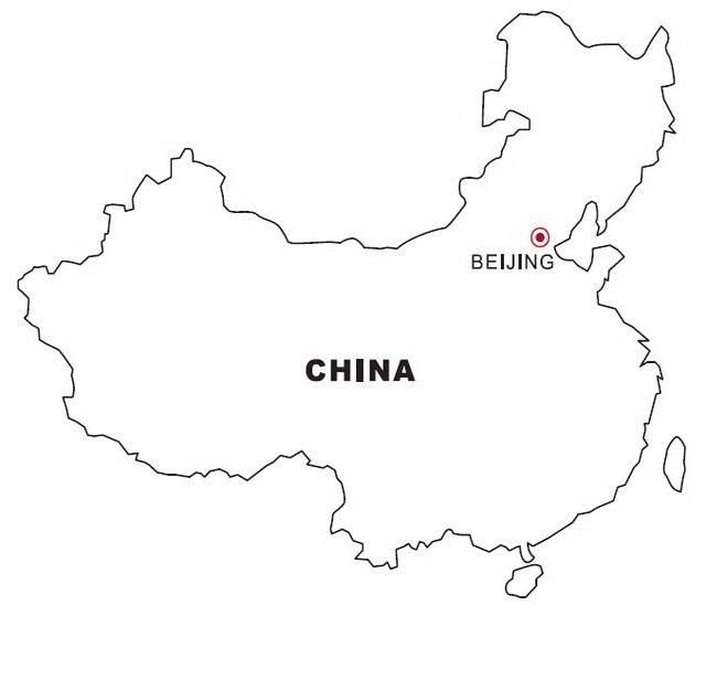 COLOREA TUS DIBUJOS: Mapa de China para colorear