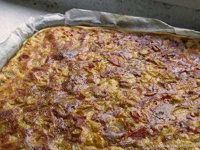 Quiche jambon, courgettes (voir la recette)