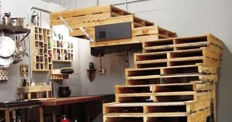 Estructura de escalera para garajes y - Estructuras con palets ...