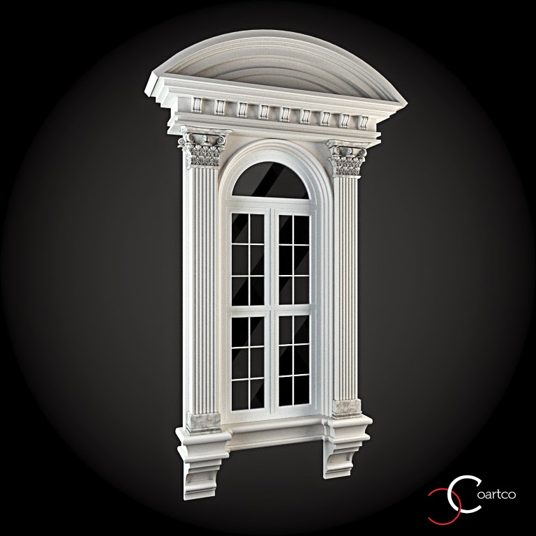 Ornamente Geamuri Exterior, Arcada, fatade case cu profile decorative polistiren, profile fatada,  Model Cod: WIN-055