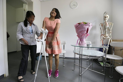 Her success may mark the changing fortunes of China's disabled
