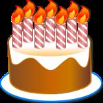 Dibujo de una tarta con 7 velas