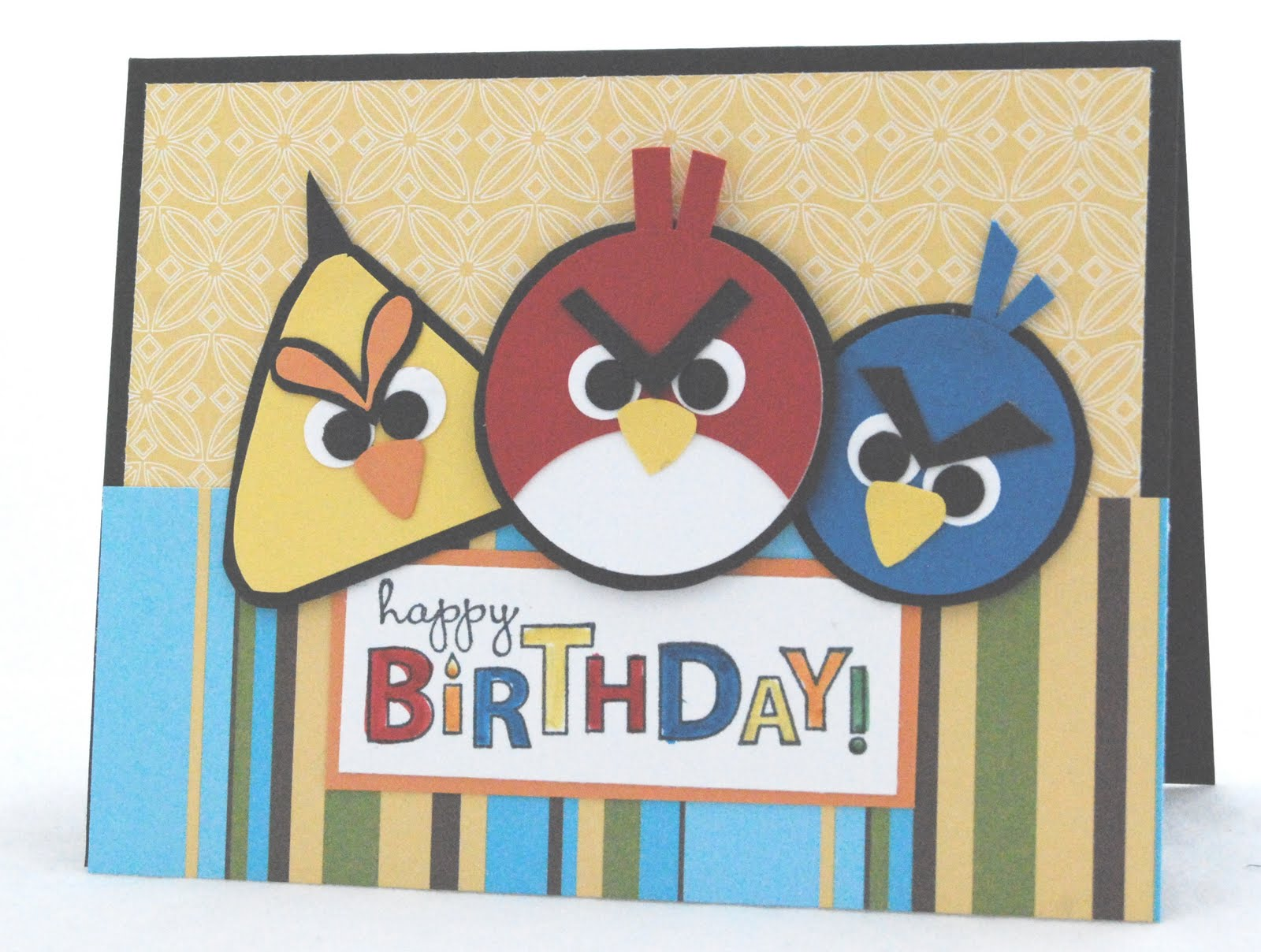 Angry-Birds Birthday Card