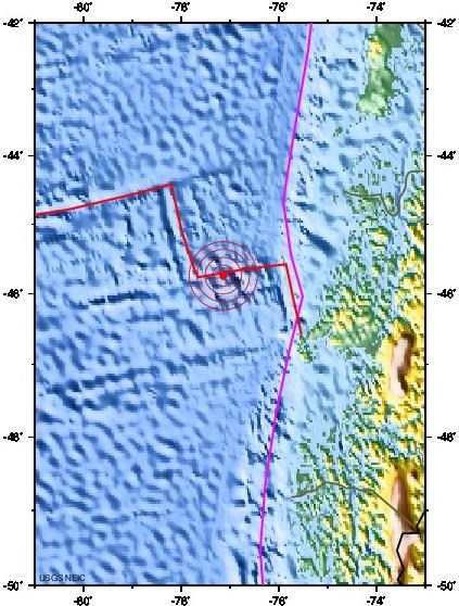 OFF THE COAST OF AISEN, CHILE earthquake 2012 November 13