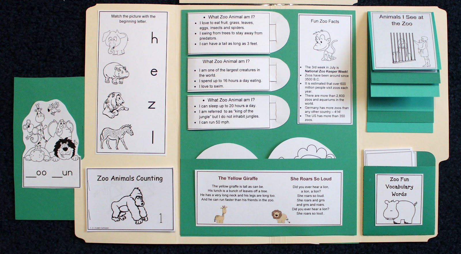 1 2 3 Learn Curriculum Zoo Fun Lapbook Added