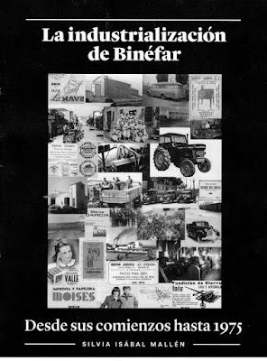 Portada La Industrialización de Binéfar, por Silvia Isabal