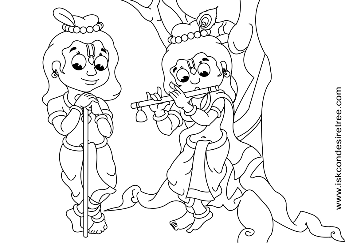 lord krishna coloring pages hindu and dess - Baby Krishna Images Coloring Pages