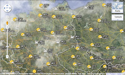 Der Wetter-Layer in Google Maps