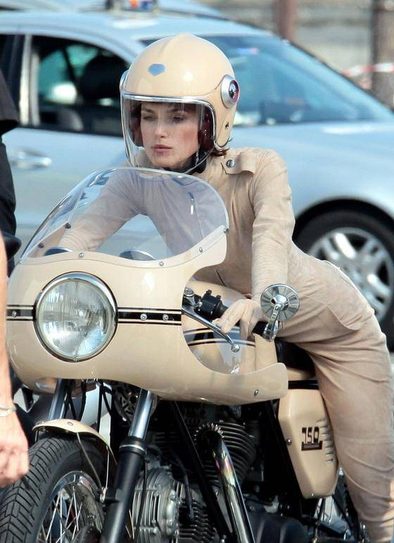 Keira Knightley With Bike