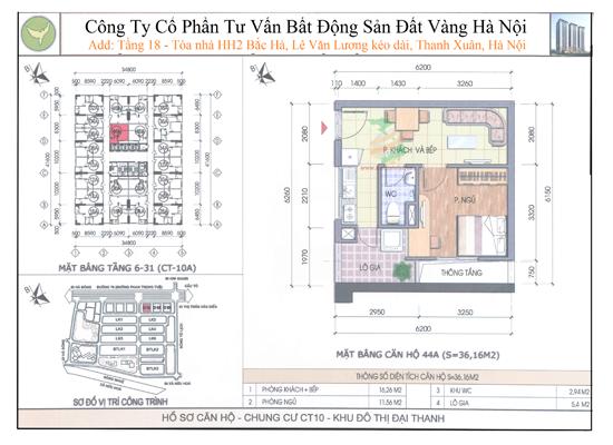 Chung cư Đại Thanh CT10 36,16m2