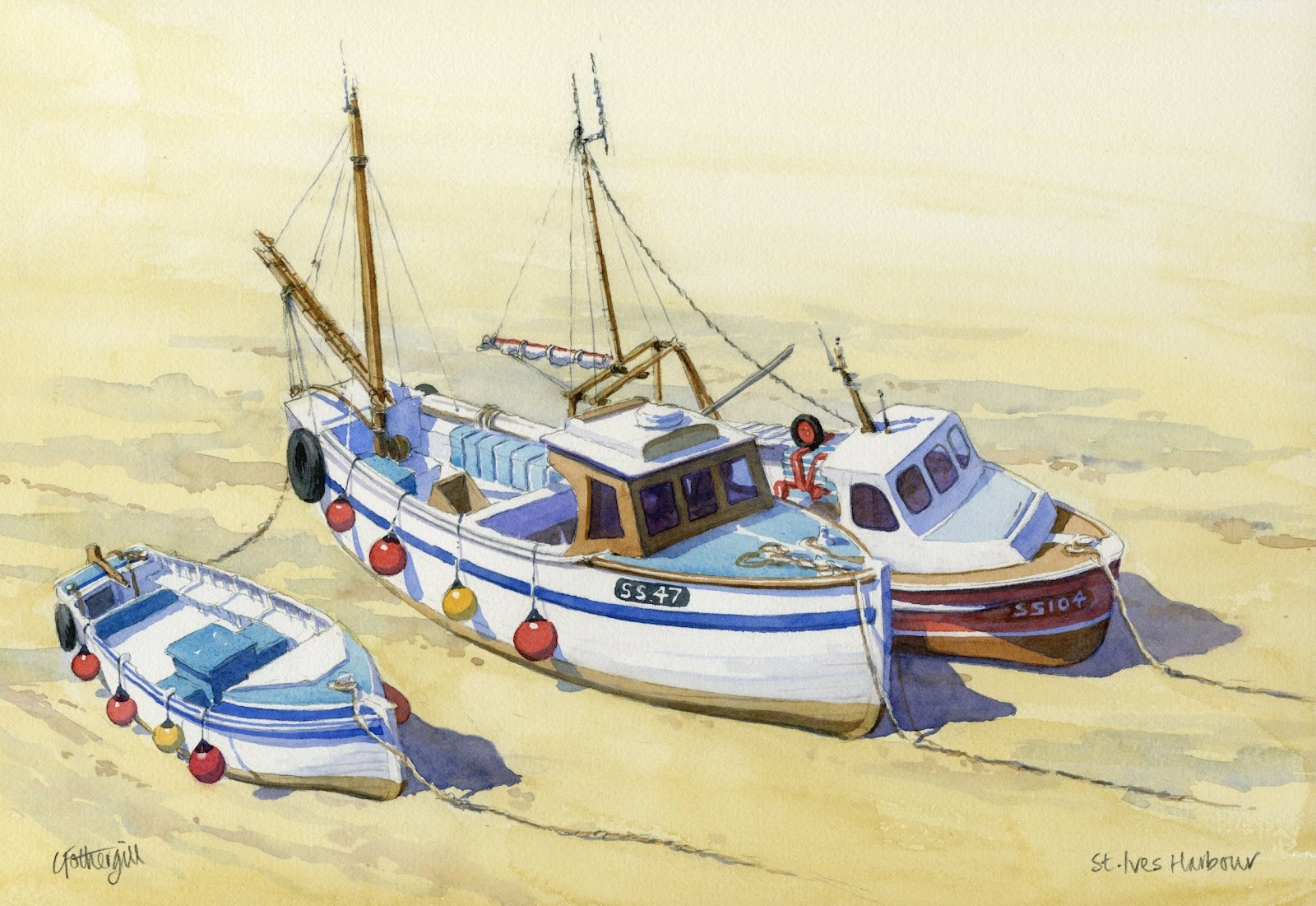 Travels with my art for Fishing boat painting