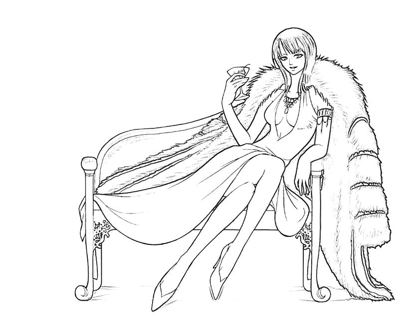 One Piece Coloring Pages http://howmakewebsite.blogspot.com/2012/10/one-piece-nico-robin-style.html