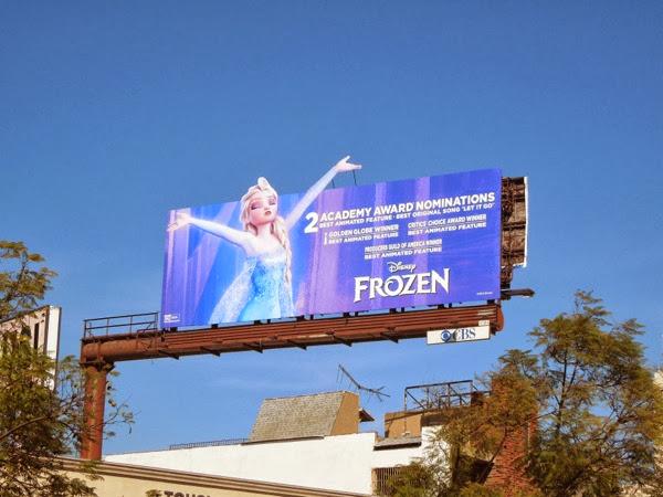 Disney Frozen Oscar nomination special billboard