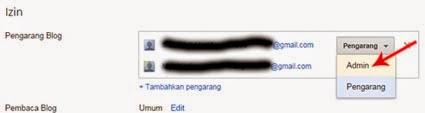 Mengundang Email Orang Menjadi Admin Blog