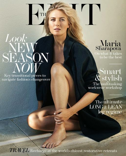 Maria Sharapova shows skin for The Edit Magazine August 2014