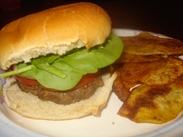 What's for Dinner?: Hamburgers and Chipotle Oven Fries