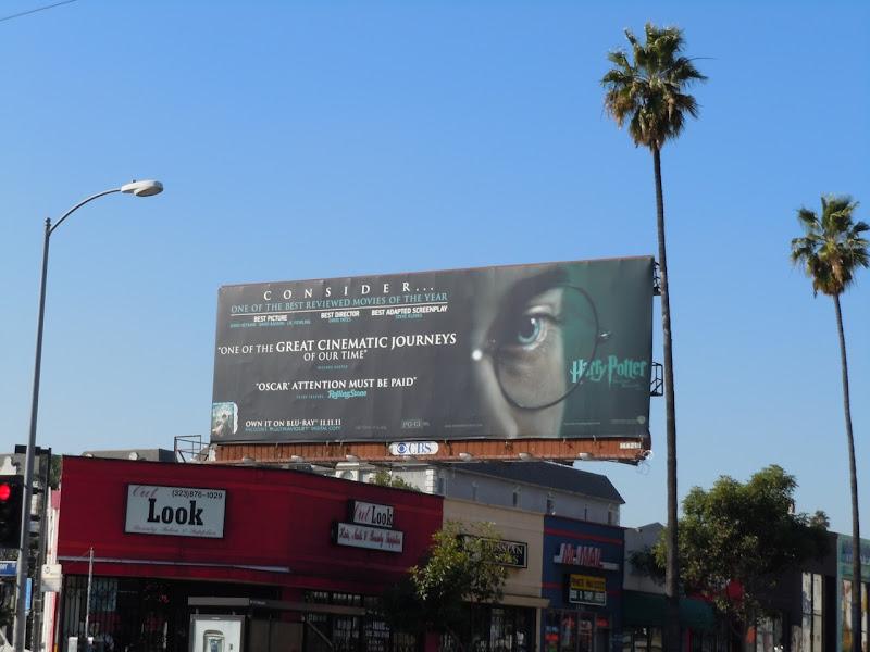 Harry Potter Oscar consideration billboard