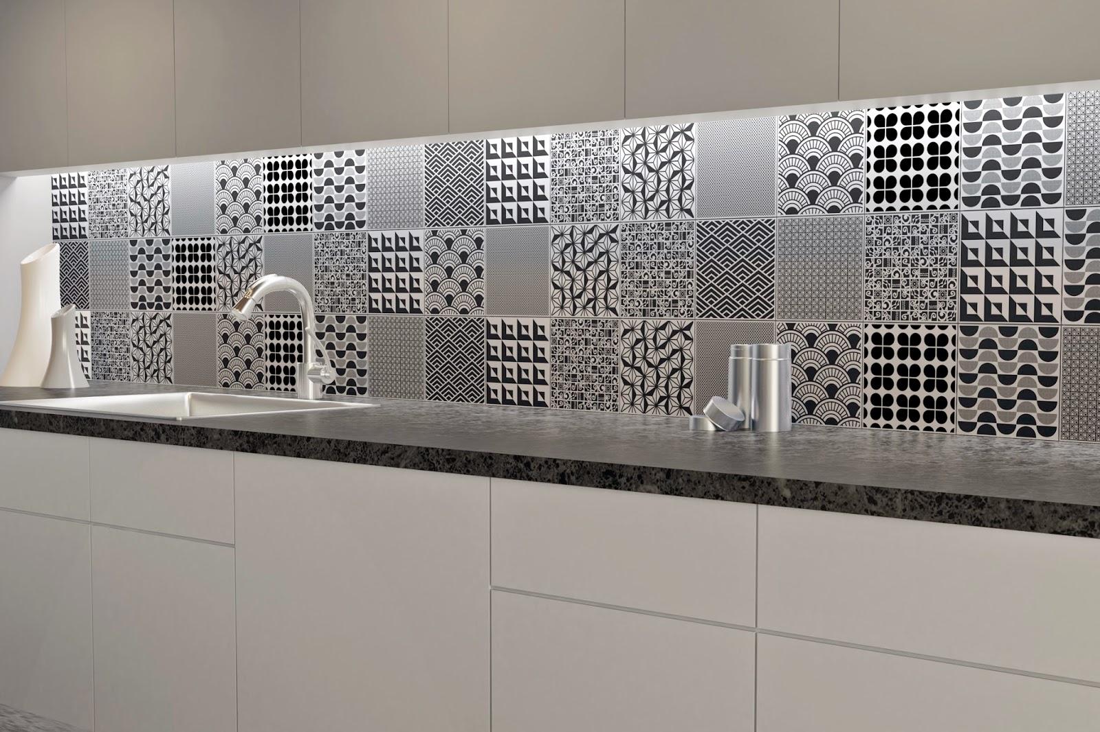 projeto de ambiente com azulejos da linha Culture - lançamentos 2015 da Cerâmica Portinari