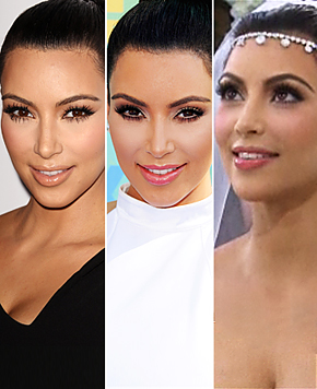 Bridal Makeup  on Kim Kardashian Plays It Safe With Wedding Day Makeup Look While She