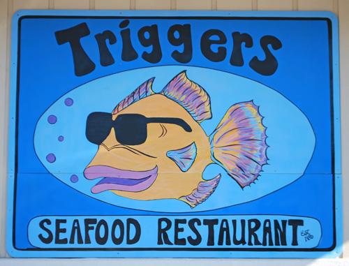breakfast quesadilla, sausage, Triggers Seafood, Pensacola