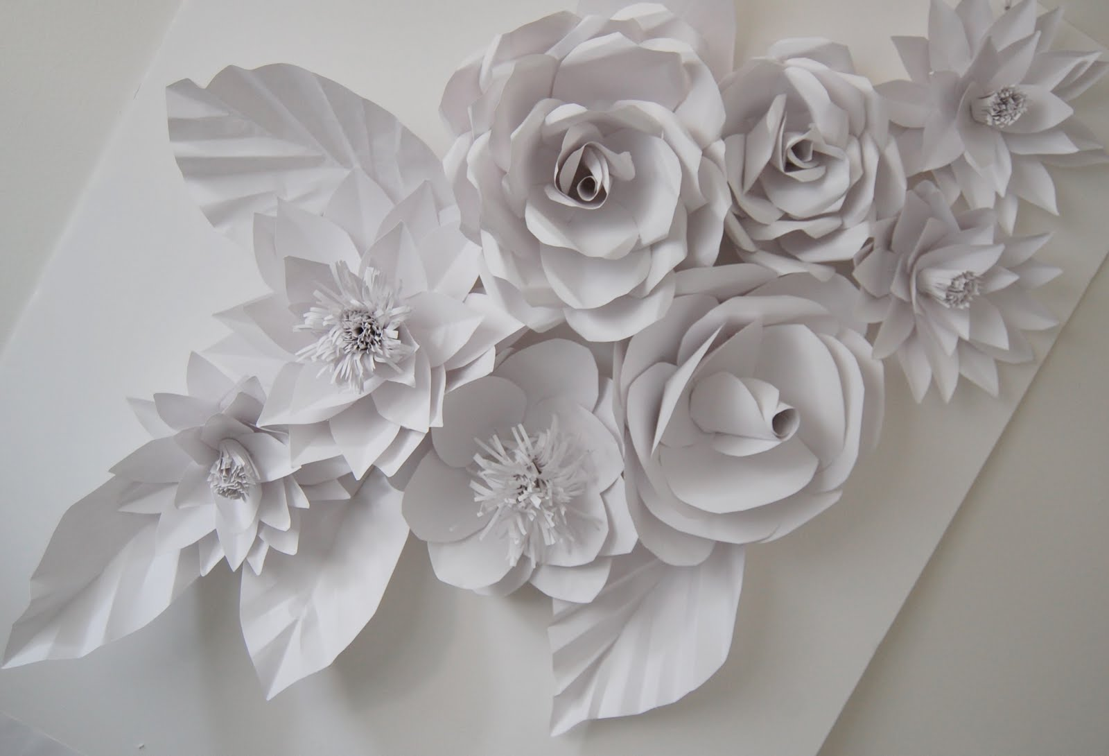 wedding backdrop flowers handmade paper flowers by maria. Black Bedroom Furniture Sets. Home Design Ideas