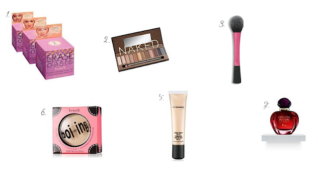 Beauty wishlist including MAC, Benefit and Dior