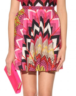 Abstract Ikat Print Skirt