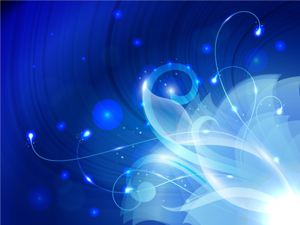 光る蔓が巻いた濃紺の背景 Floral Blue Background Vector Graphic イラスト素材
