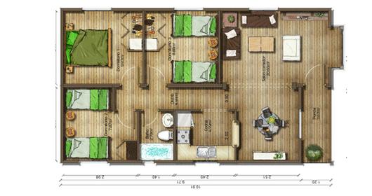 Dise os de casas planos gratis planos de casas gratis 67 m2 for Disenar plano cocina