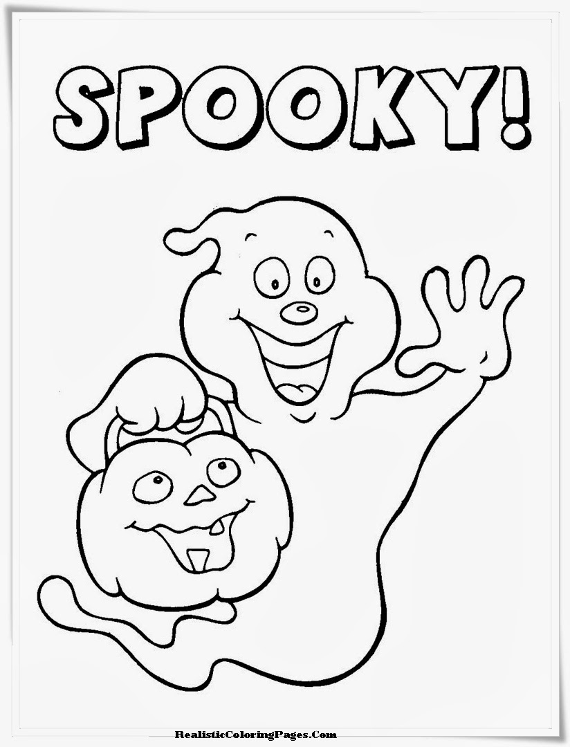 realistic halloween coloring pages - photo#9