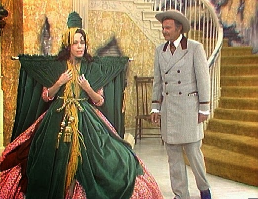 Yes We Rise| The slob-a-fication of America, Carol Burnett Went with the wind, curtain dress