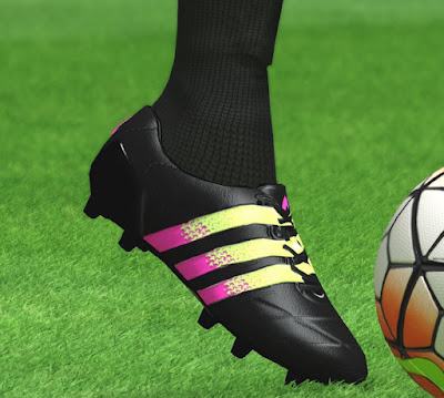 Adidas Ace 16.1 Leather Black / Shock Pink / Solar Green